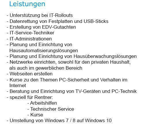 PC Hilfe, Netzwerktechnik für 09661 Rossau - Dreiwerden, Greifendorf, Hermsdorf, Seifersbach, Weinsdorf und Moosheim, Schönborn